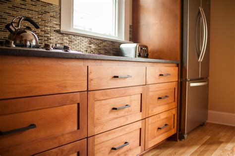 Medium Stained Alder Cabinets